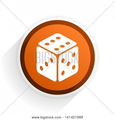 game flat icon with shadow on white background, orange modern design web element