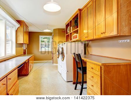 Spacious Laundry Room At The Horse Ranch.