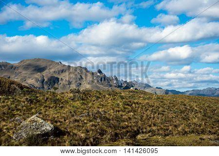 Cajas National Park in Andean Highlands of Ecuador