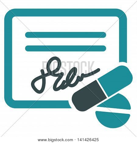 Receipt vector icon. Style is bicolor flat symbol, soft blue colors, rounded angles, white background.