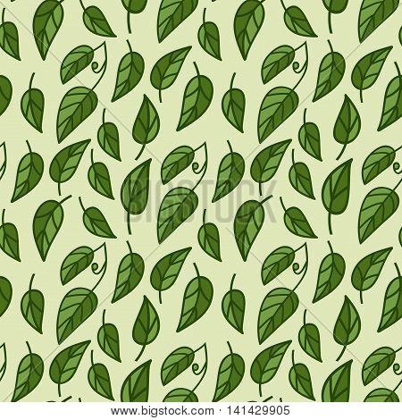 Seamless foliage pattern . vector illustration .