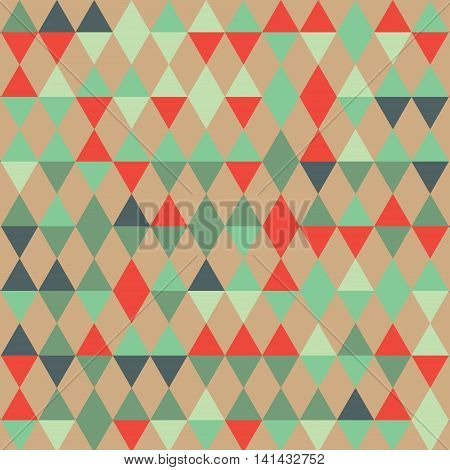 Triangles pattern of geometric shapes. Colorful mosaic backdrop. Geometric background, place your text on the top of it. Retro triangle background. Backdrop.
