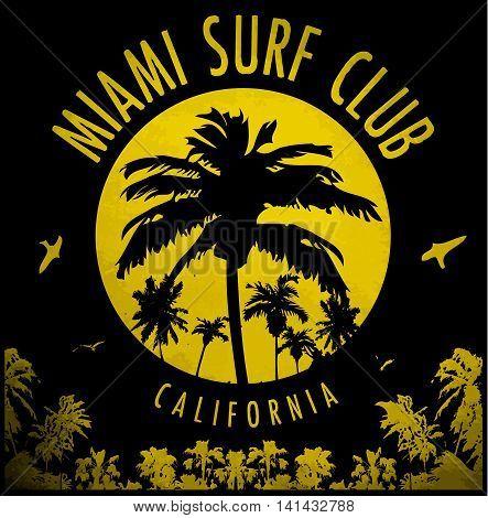 Miami summer tee graphic design fashion style new trend