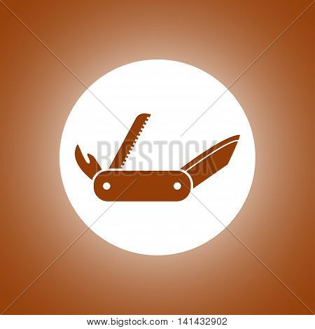 Swiss Knife Icon. Flat