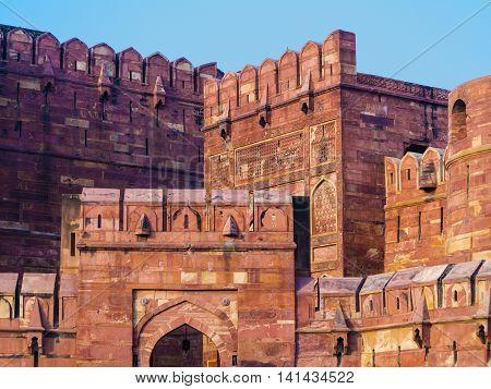 Red Fort In Agra, Amar Singh Gate, India, Uttar Pradesh