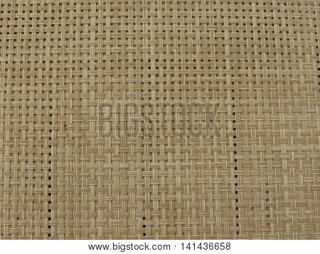 Table mat with fake straw threads woven useful as a background