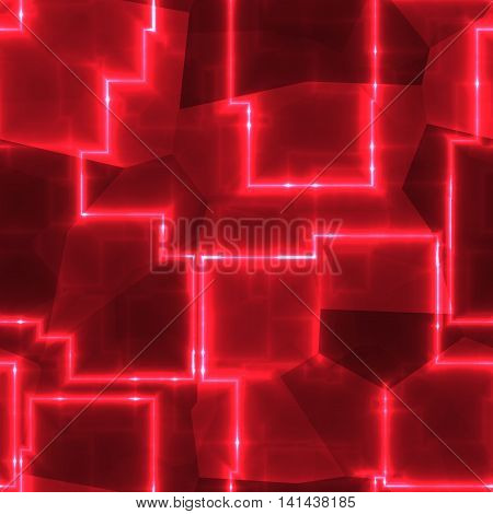 Carmine red abstract cubes image or background