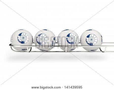 Flag Of Antarctica On Lottery Balls
