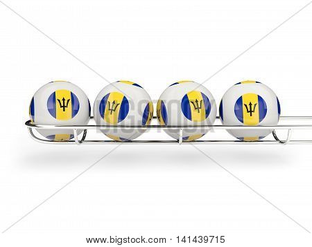 Flag Of Barbados On Lottery Balls