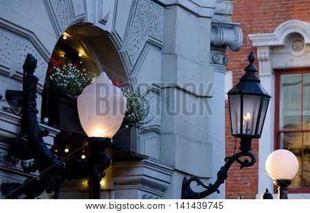All Kinds Of Street Lights In Victoria City Center, Brititsh Columbia