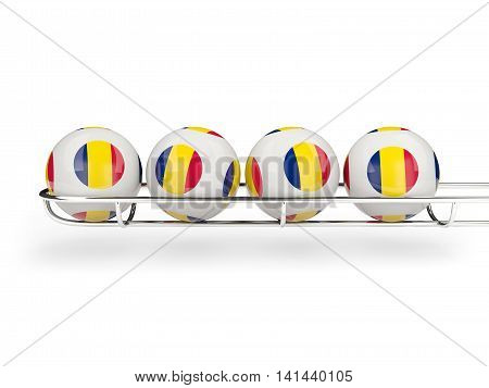 Flag Of Chad On Lottery Balls