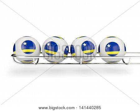Flag Of Curacao On Lottery Balls