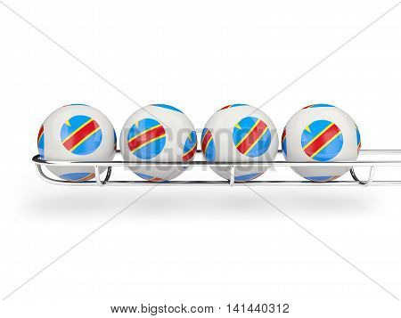 Flag Of Democratic Republic Of The Congo On Lottery Balls