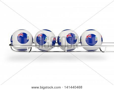 Flag Of Falkland Islands On Lottery Balls