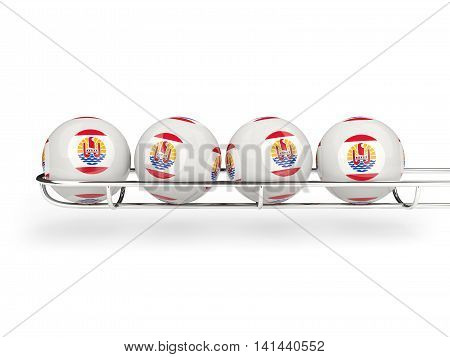 Flag Of French Polynesia On Lottery Balls