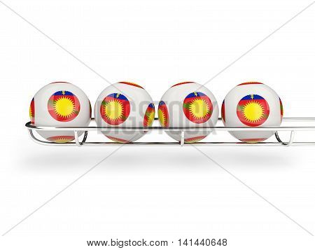 Flag Of Guadeloupe On Lottery Balls