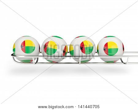 Flag Of Guinea Bissau On Lottery Balls