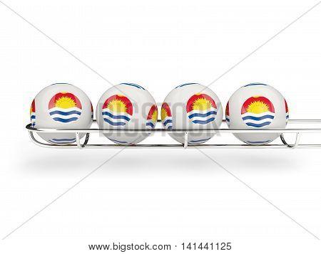 Flag Of Kiribati On Lottery Balls