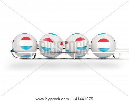 Flag Of Luxembourg On Lottery Balls