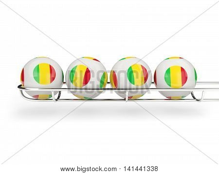 Flag Of Mali On Lottery Balls