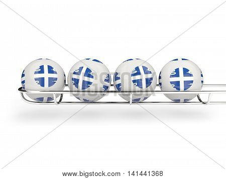 Flag Of Martinique On Lottery Balls