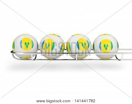 Flag Of Saint Vincent And The Grenadines On Lottery Balls