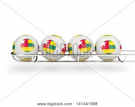 Flag Of Togo On Lottery Balls