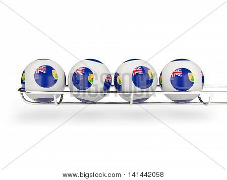 Flag Of Turks And Caicos Islands On Lottery Balls