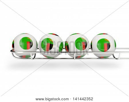 Flag Of Zambia On Lottery Balls