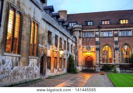 University Of Cambridge In Cambridge, England, Uk..