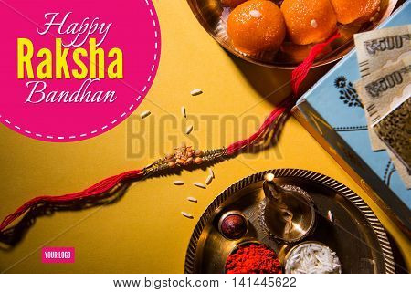 artwork for Rakhi or Raksha Bandhan Greeting card