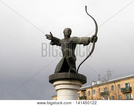 Monument Mergen - archer. Ulan-Ude. Buryatia. Russia