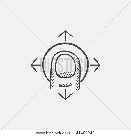 Drag sketch icon for web, mobile and infographics. Hand drawn vector isolated icon.
