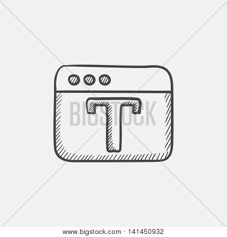 Design editor tool sketch icon for web, mobile and infographics. Hand drawn vector isolated icon.