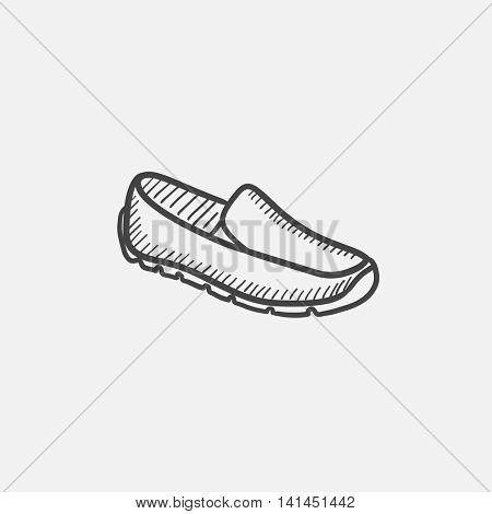 Male shoe sketch icon set for web, mobile and infographics. Hand drawn vector isolated icon.