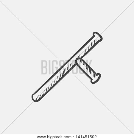 Baton sketch icon for web, mobile and infographics. Hand drawn vector isolated icon.