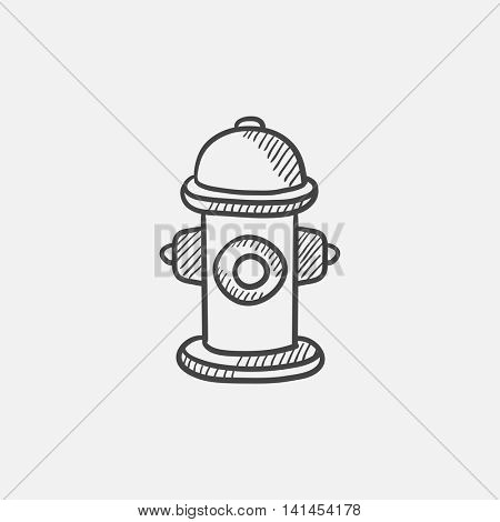 Fire hydrant  sketch icon for web, mobile and infographics. Hand drawn vector isolated icon.