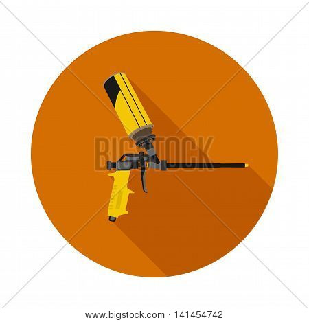 flat icon gun for foam in vector format eps10