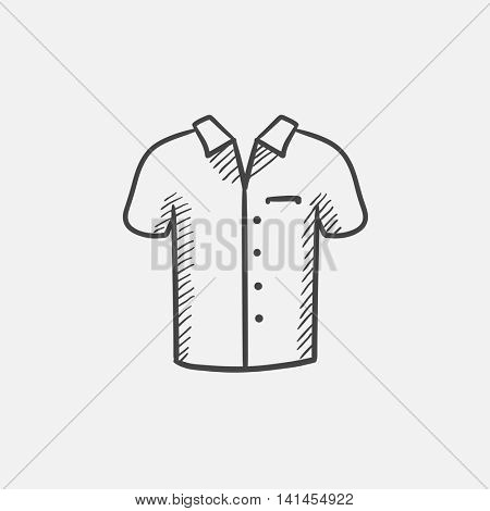 Polo shirt sketch icon for web, mobile and infographics. Hand drawn vector isolated icon.