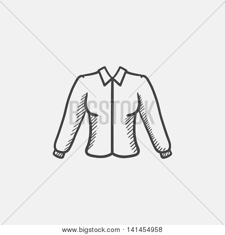 Female blouse sketch icon for web, mobile and infographics. Hand drawn vector isolated icon.