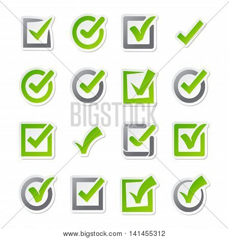 Check box vector icons vector set. Check vote icons vote mark sign choice yes symbol. Correct design check vote icons check mark right agreement voting form. Button question choose success graphic.