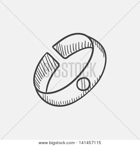 Bracelet sketch icon for web, mobile and infographics. Hand drawn vector isolated icon.