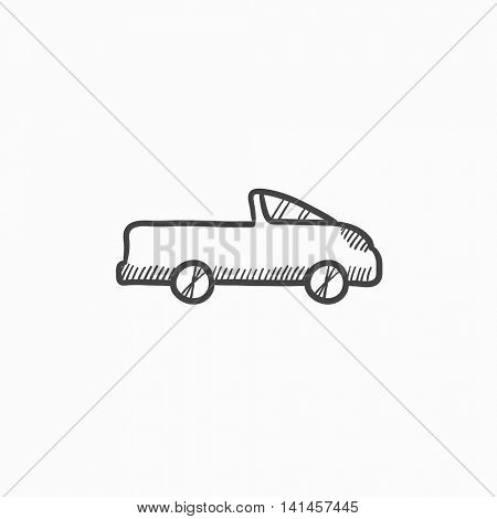 Pick up truck vector sketch icon isolated on background. Hand drawn Pick up truck icon. Pick up truck sketch icon for infographic, website or app.