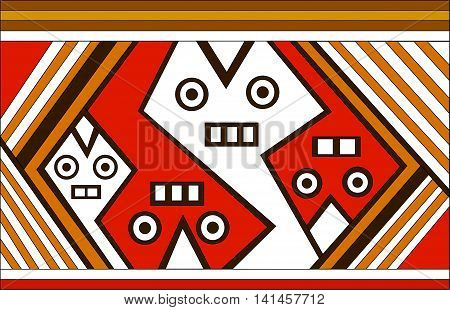Spirit. Ethnic pattern of American Indians: Aztecs, Mayans, Incas. Vector illustration.