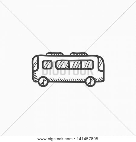 Bus vector sketch icon isolated on background. Hand drawn Bus icon. Bus sketch icon for infographic, website or app.