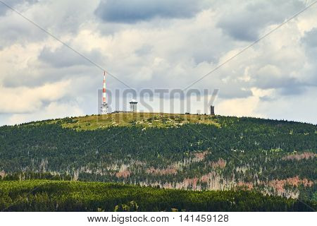 The Brocken is the highest mountain in the Harz and mountains in the north of Germany.