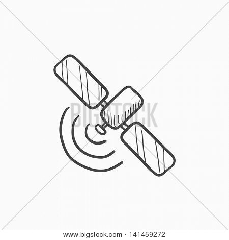 Satellite vector sketch icon isolated on background. Hand drawn Satellite icon. Satellite sketch icon for infographic, website or app.