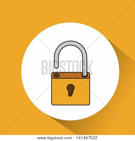 padlock unlock security icon vector isolated graphic