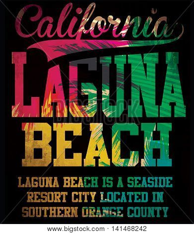 california laguna beach vector art fashion style