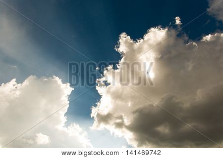 sunlight sky cloud happiness beautiful Indigo background